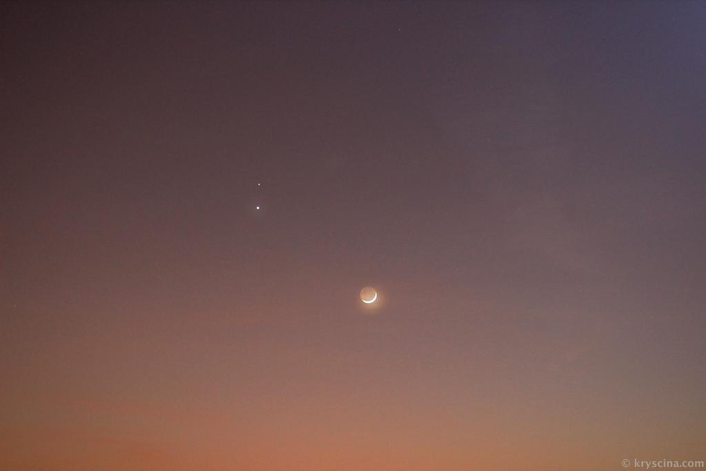А из нашего окна — Марс, Венера и Луна :)