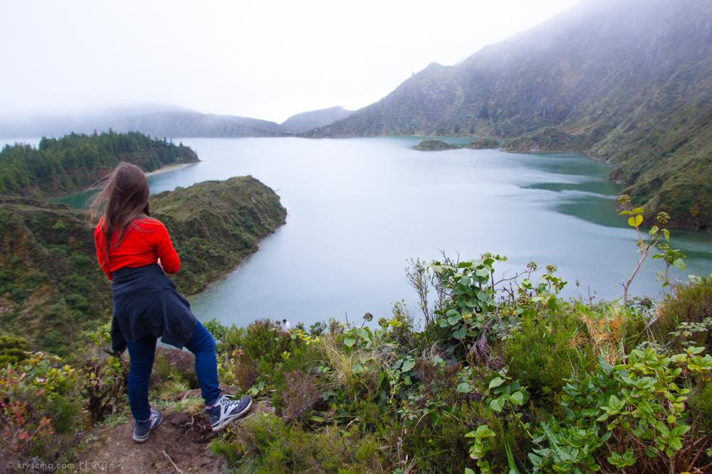 Португалия [16]: Хайкинг у синего озера Фого