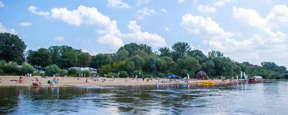 Лето в Варшаве: Пляж у Вислы